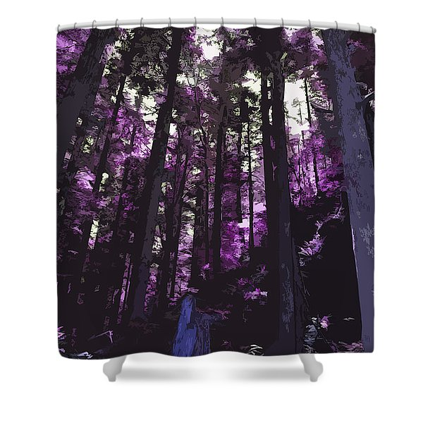 Stand Of Trees Shower Curtain