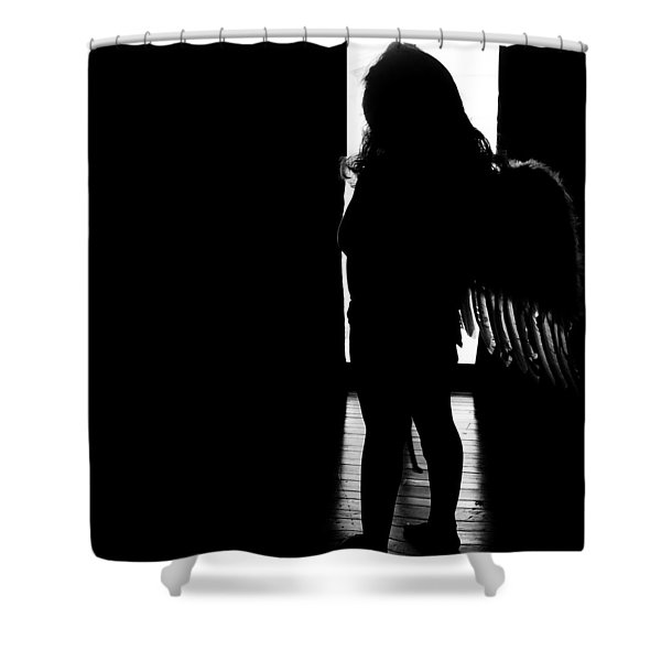 Standing Angel  Shower Curtain
