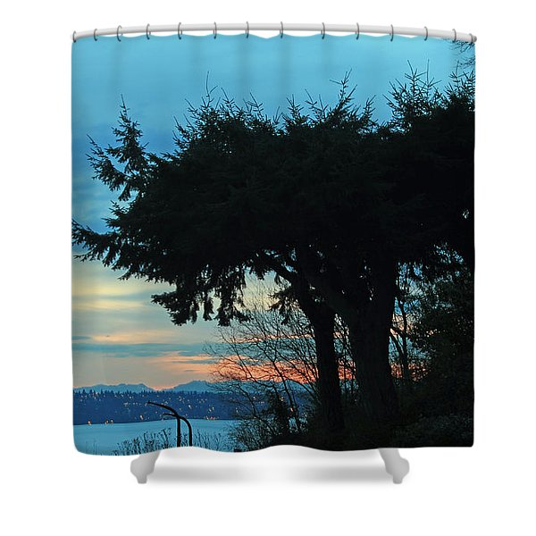 Standing Guard For Dawn Shower Curtain