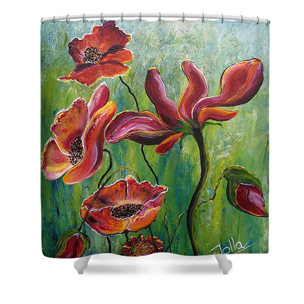 Standing High Shower Curtain