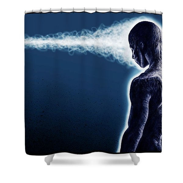 Standing Still Thoughts Proceeding Shower Curtain