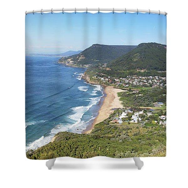 Stanwell Park Panorama Shower Curtain