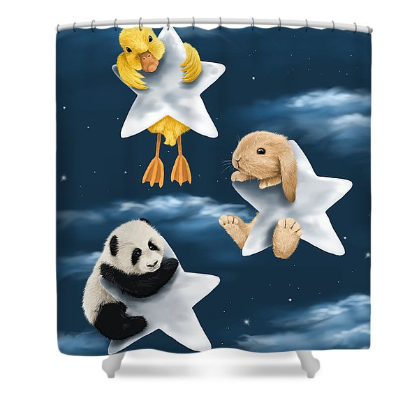 Star Games Shower Curtain