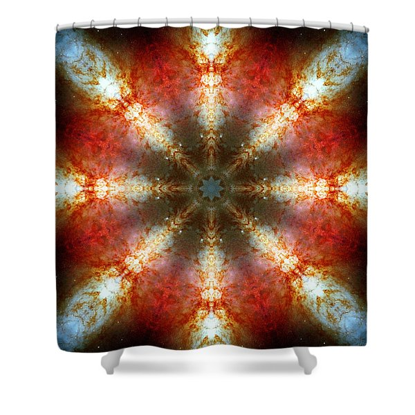 Starburst Galaxy M82 II Shower Curtain
