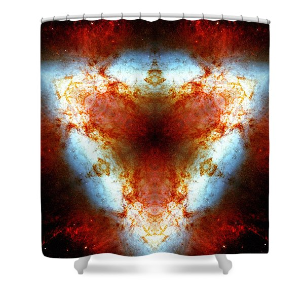 Starburst Galaxy M82 Vi Shower Curtain