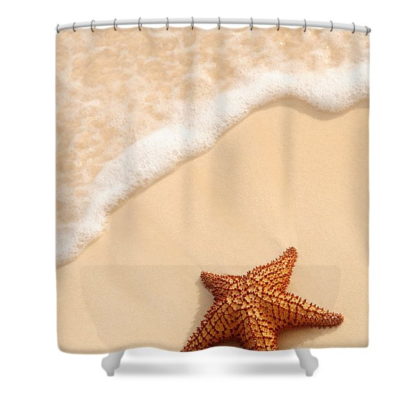Starfish And Ocean Wave Shower Curtain