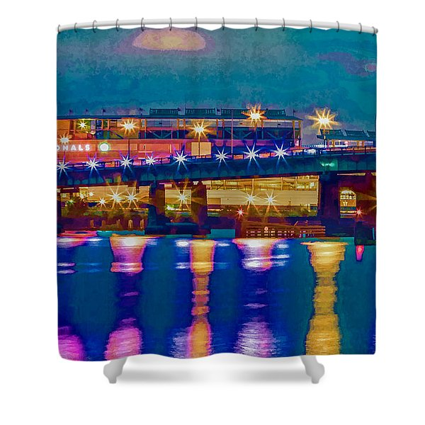 Starry Night At Nationals Park Shower Curtain