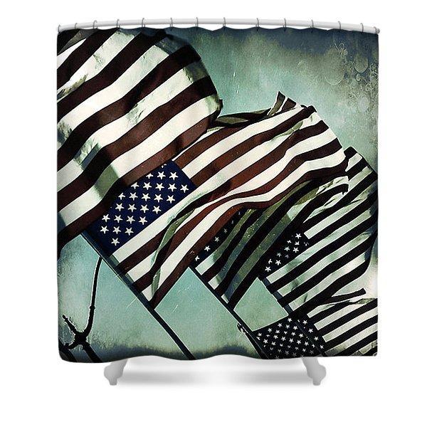 Stars N  Stripes Shower Curtain