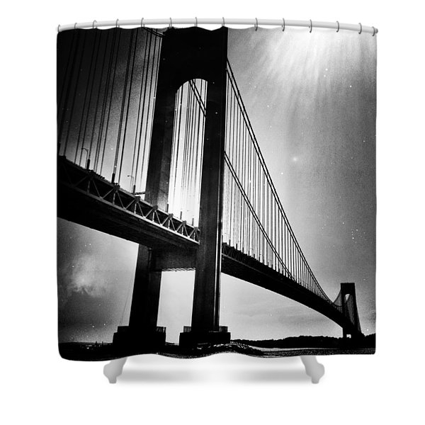 Stars Over The Verrazano Shower Curtain