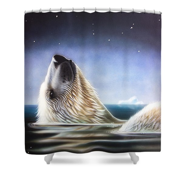 Shower Curtain featuring the painting Starshine by Sandi Baker