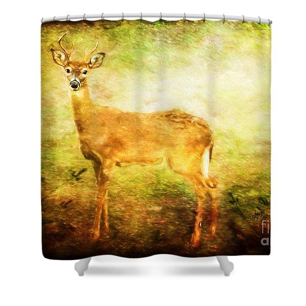 Startled Shower Curtain
