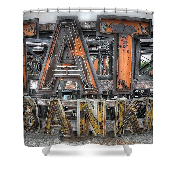 State Bank Sign Shower Curtain
