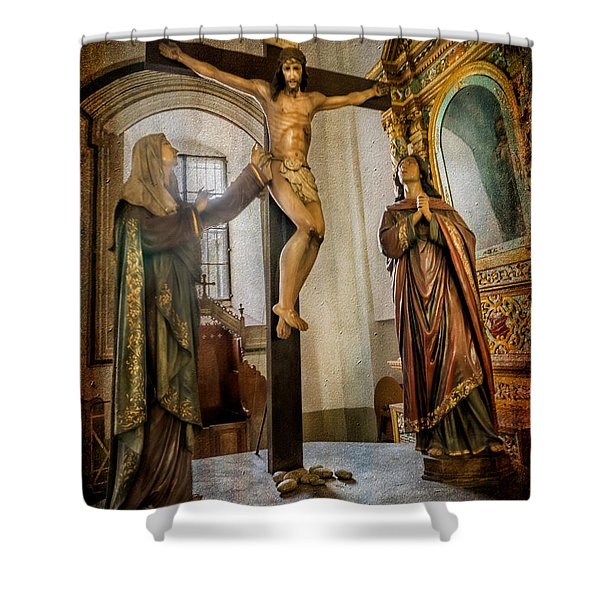 Statue Of Jesus Shower Curtain