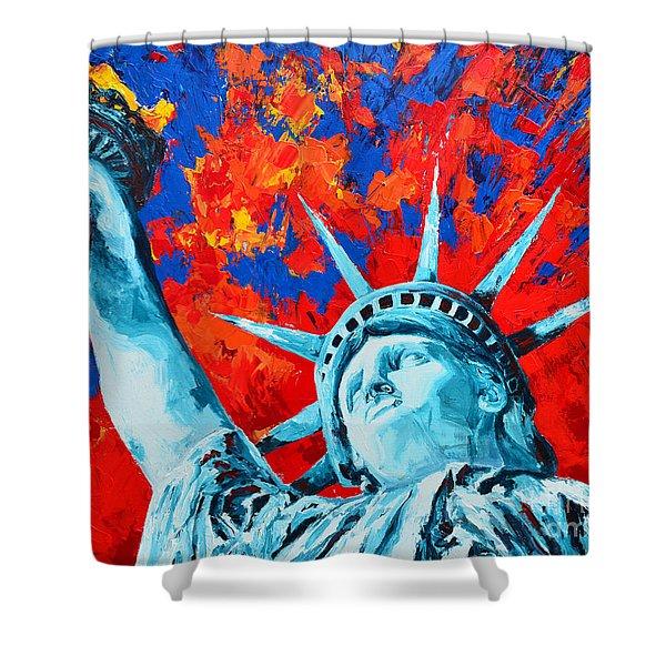Statue Of Liberty - Lady Liberty Shower Curtain