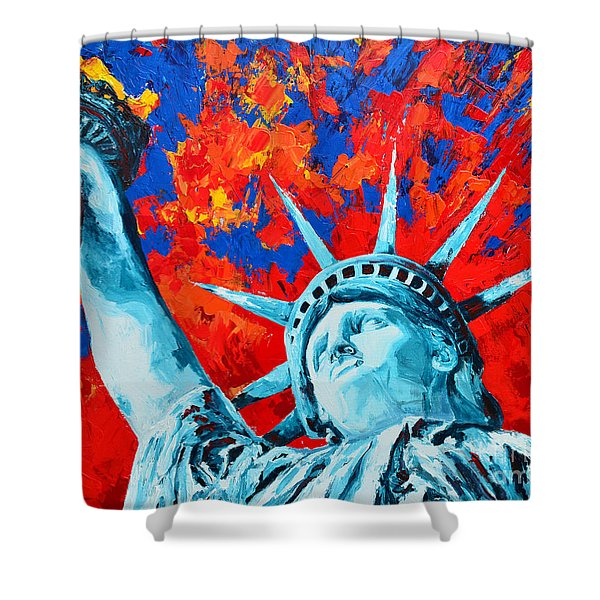 Statue Of Liberty - Lady Liberty Shower Curtain