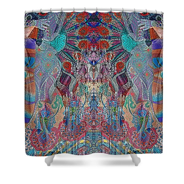 Mirrored Statues  Shower Curtain