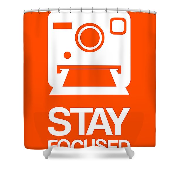 Stay Focused Polaroid Camera Poster 3 Shower Curtain