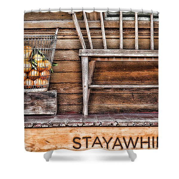 Stayawhile Shower Curtain
