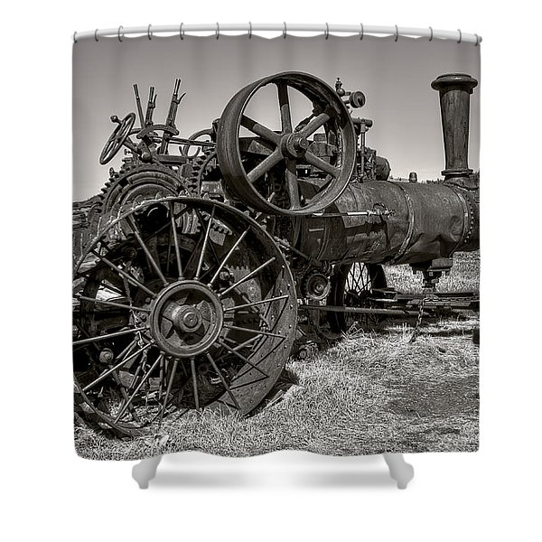 Steam Tractor - Molson Ghost Town Shower Curtain