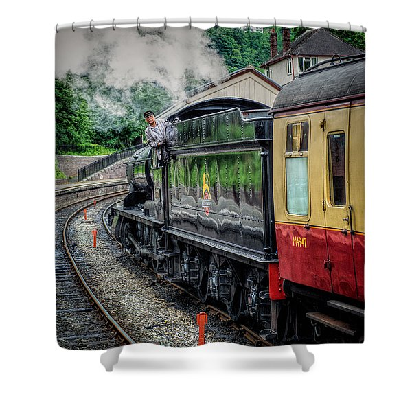 Steam Train 3802 Shower Curtain