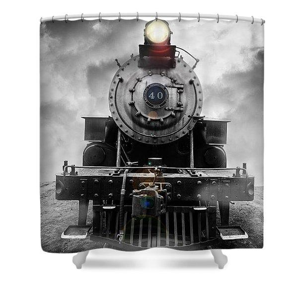 Shower Curtain featuring the photograph Steam Train Dream by Edward Fielding