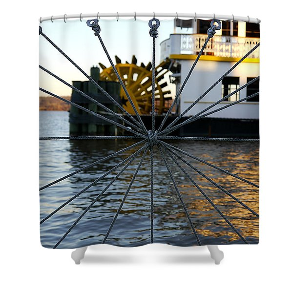 Steamboat - Cherry Blossom 3 Shower Curtain