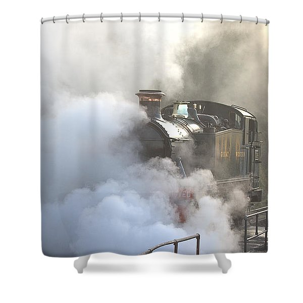 Steaming At Dawn No3 Shower Curtain