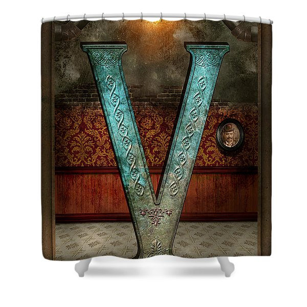 Steampunk - Alphabet - V Is For Victorian Shower Curtain