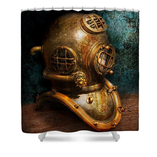 Steampunk - Diving - The Diving Helmet Shower Curtain