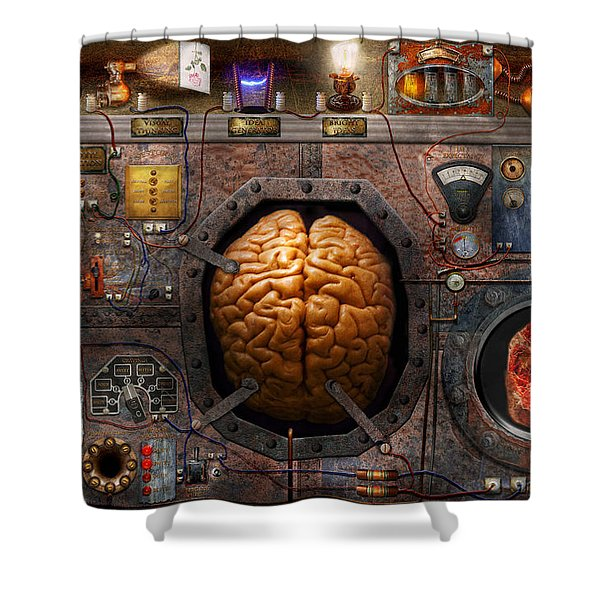 Steampunk - Information Overload Shower Curtain