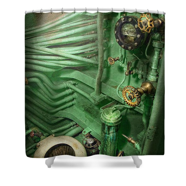 Steampunk - Naval - Plumbing - The Head Shower Curtain