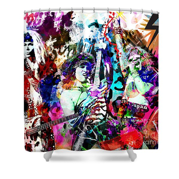 Steel Panther - Original Painting Art Print Shower Curtain