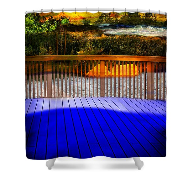 Shower Curtain featuring the photograph Step Out by Gunter Nezhoda