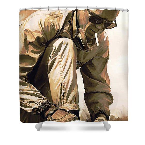 Steve Mcqueen Artwork Shower Curtain