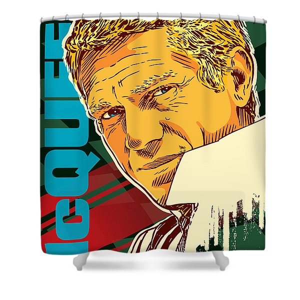 Steve Mcqueen Pop Art Shower Curtain