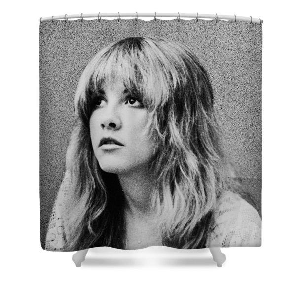 Stevie Nicks Bw Shower Curtain