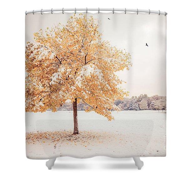 Still Dressed In Fall Shower Curtain