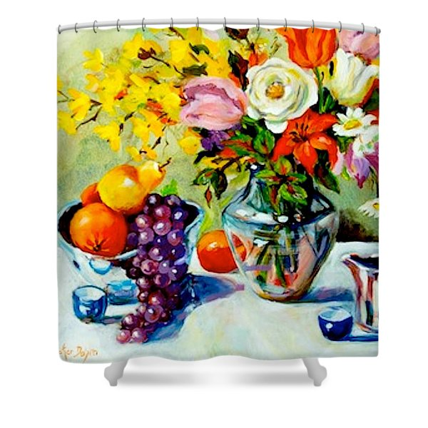 Still Life Creamer Shower Curtain