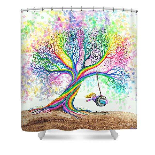 Still More Rainbow Tree Dreams Shower Curtain
