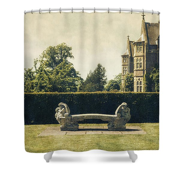 Stone Bench Shower Curtain