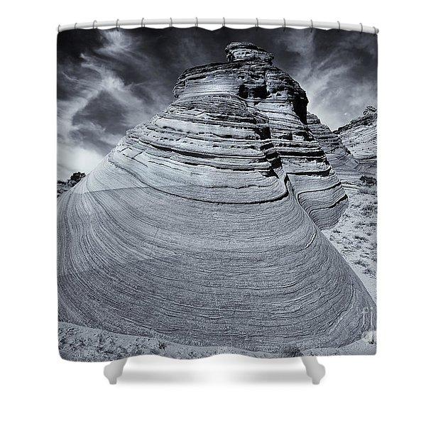 Stone Curves Shower Curtain