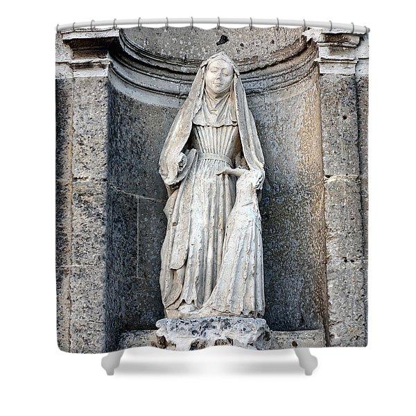 Stone Nun Shower Curtain