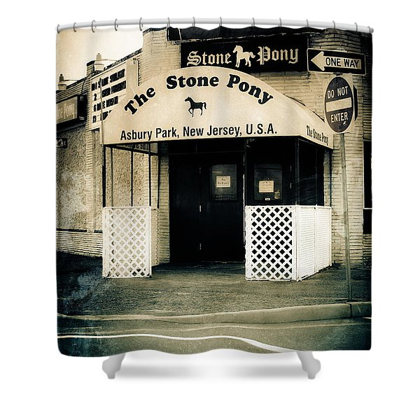 Stone Pony Shower Curtain