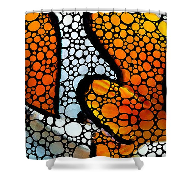 Stone Rock'd Clown Fish By Sharon Cummings Shower Curtain