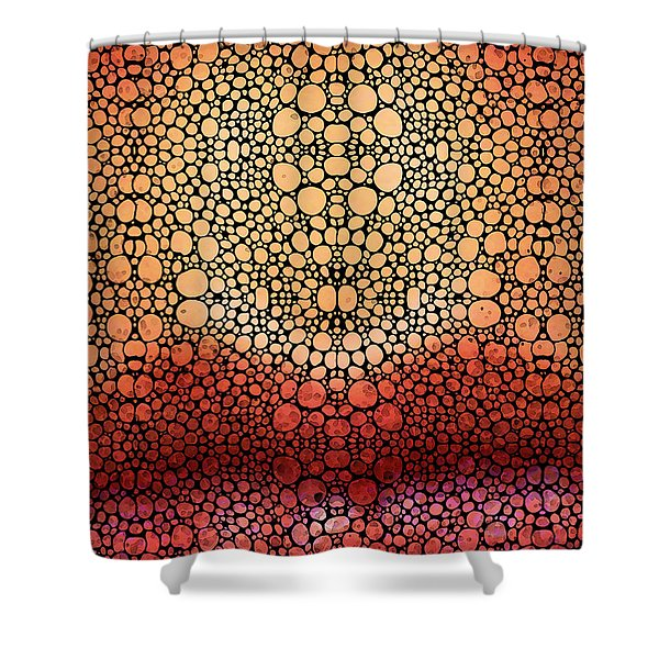Stone Rock'd Pout - Sexy Lips By Sharon Cummings Shower Curtain