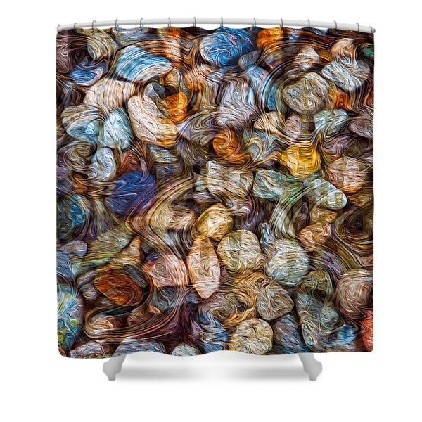 Stoned Stones Shower Curtain