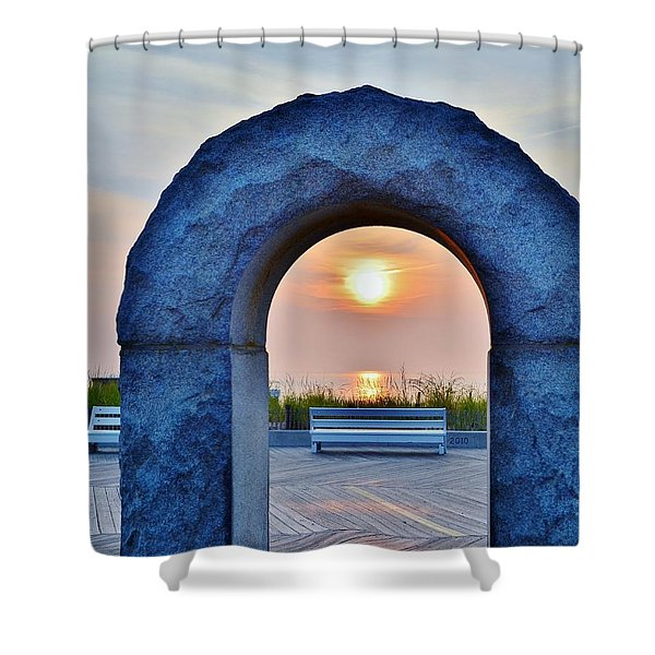 Sunrise Through The Arch - Rehoboth Beach Delaware Shower Curtain