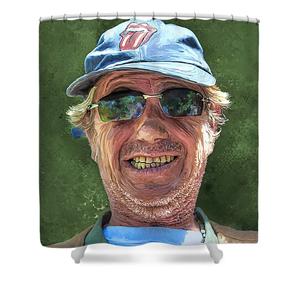 Stones Fan Shower Curtain
