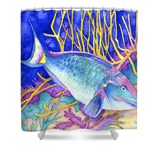 Stoplight Parrotfish Shower Curtain