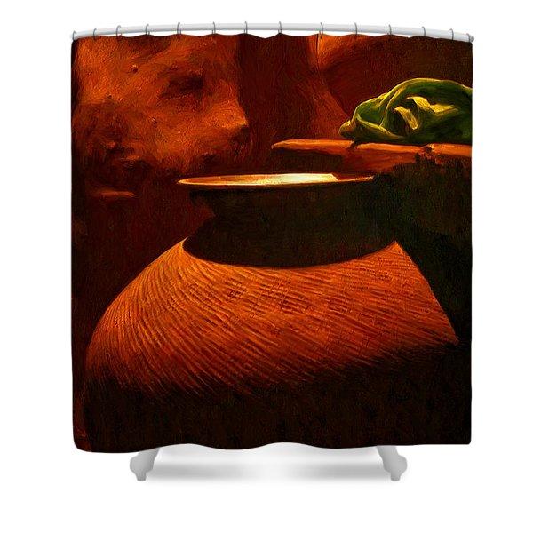 Storage Pots Shower Curtain